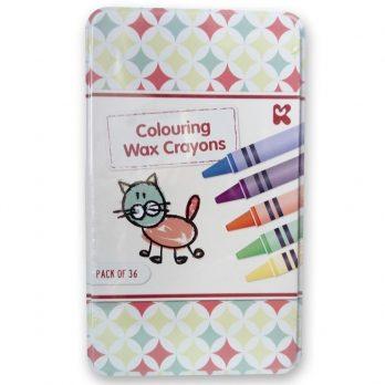 Wax Crayons in tin